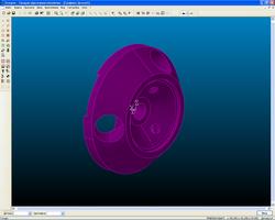 Исходная модель для выделения детали для токарной обработки