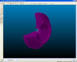 Деталь для токарной обработки, построенная по сечению модели