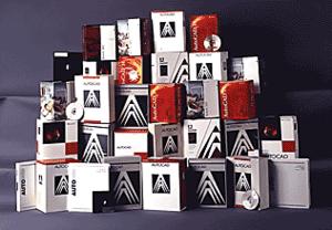 Эта «небольшая» пирамида содержит коробки, в которых поставлялся AutoCAD, - начиная с первых версий и кончая AutoCAD R14