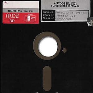 Дискета, на которой поставлялась первая версия AutoCAD-86