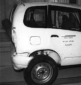 Результаты испытаний, проведенных в процессе доводки автомобиля по требованиям пассивной безопасности (АвтоВАЗ)