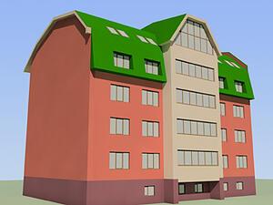 Рис. 2. - жилой дом по ул. Рознина, г.Ханты-Мансийск (проект 2001 г.)