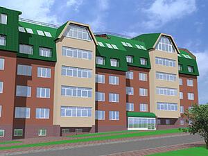 Рис. 3. - жилой дом по ул. Рознина, г.Ханты-Мансийск (проект 2001 г.)