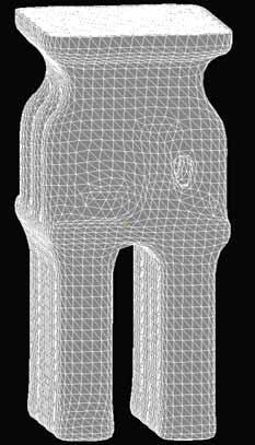 Рис. 2. КЭ-модель керамической формы, сгенерированной в MeshCAST