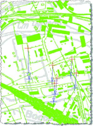 Рис. 17. Наложение зеленого растрового изображения на серое
