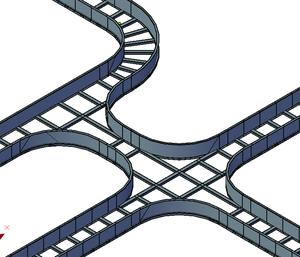 Пример конструирования трасс из лотков лестничного типа