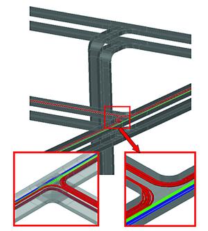 Раскладка кабелей в трехмерном пространстве с учетом геометрии и радиуса гиба кабеля