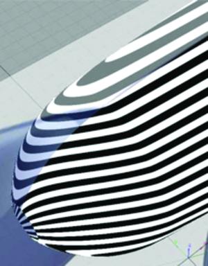 Рис. 2. Сглаженная поверхностная модель конусной части фена, сформированная кривой второго порядка