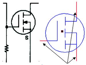 Рис. 4. Задание линий присоединения