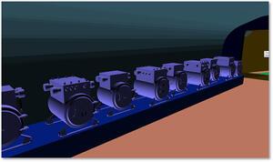 Рис. 1. Пользовательское оборудование из базы данных Model Studio CS в трехмерном проекте ЗАО «ЭНЕРГОСЕРВИС»