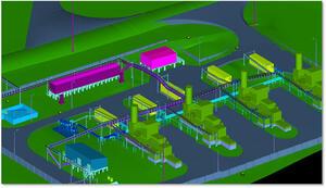 Рис. 3. Трехмерная информационная модель организации строительства Ильичевского нефтяного месторождения