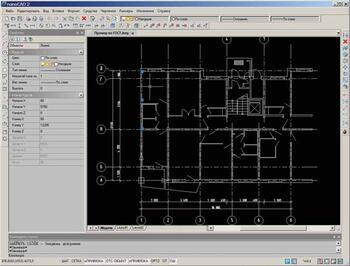 Рис. 8. Поэтажный план ArchiCAD, открытый в nanoCAD и готовый для дальнейшей работы
