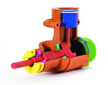 Модель двигателя, изготовленная на Z 250