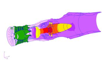 Рис. 5. Формы колебаний связанной системы роторов, соответствующие первой, второй, третьей и четвертой критической скорости вращения