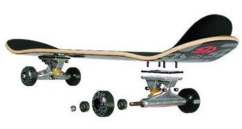 Рис. 4. Детали, составляющие скейтборд