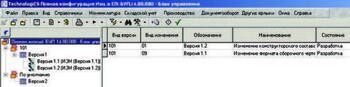 Рис. 3. Окно режима создания/редактирования изменения версии СП или ТП