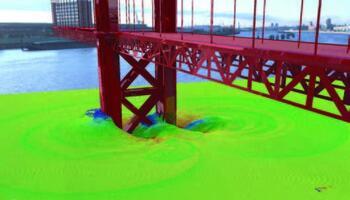 Расчет гидродинамических нагрузок на опоры мостового сооружения