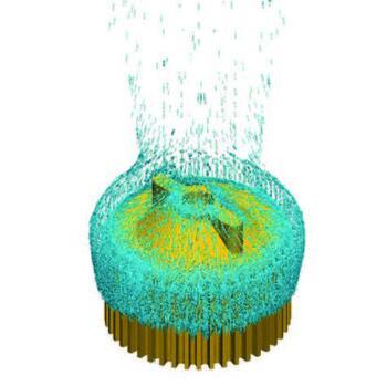 Расчет охлаждения взрывозащитного светодиодного светильника. Моделирование естественной конвекции. Изображение предоставлено компанией Светотроника