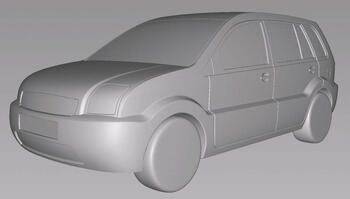 Рис. 5. Модель автомобиля без мелких деталей