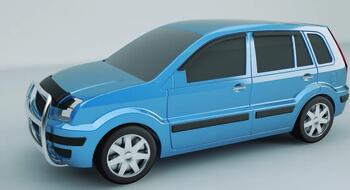 Рис. 14. Вид в Autodesk 3ds Max на левый бок модели автомобиля с тюнингом: а – спереди,