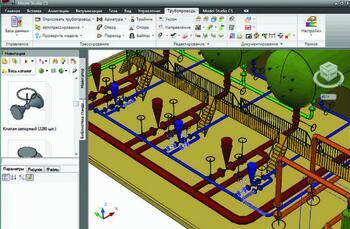 Рис. 4. Экспорт трубопроводов из Model Studio CS в программу Изоляция