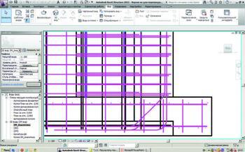 Схематичное отображение арматуры в Revit Structure 2012