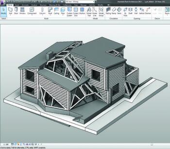 Рис. 2. Вид модели в программе Revit после обработки для печати