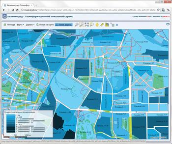 Пример тематического картографирования градостроительных зон в CS UrbanView