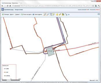Пример тематического картографирования кабелей низкого напряжения для нужд службы кабельных сетей в CS UrbanView