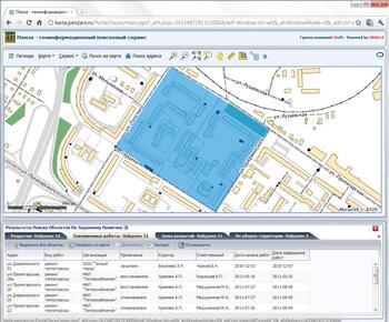 Пример пространственного анализа объектов в CS UrbanView