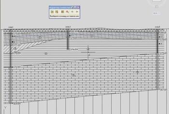 Пример инженерно-геологического разреза с зондировочной скважиной