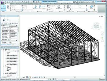 Один из листов рабочей документации, выполненной в Revit Structure