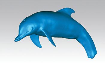 Рис. 3. Полигональная модель дельфина