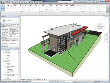 Autodesk Revit. Модель здания для импорта из Autodesk Revit в Autodesk 3ds Max Design