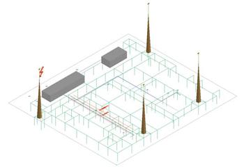 Рис. 1-4. Исходные данные для расчета ЭМО в 3D-виде