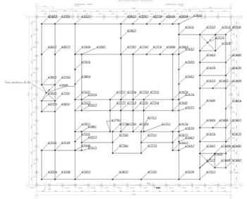 Рис. 6. Потенциалы (В) узлов ЗУ при молниевом разряде в молниеотвод М1