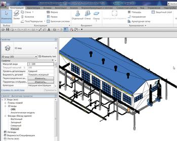 Трехмерный проект, экспортированный из среды CADLib Модель и Архив в Revit