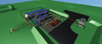 Рис. 5. Единая комплексная модель объекта строительства, выполненная в ПО Autodesk Navisworks Manage