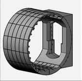 2в – типовой сборный участок бокового тоннеля, состоящий из колец обделки с демонтируемой частью (несущий элемент) и рамы ходка (формообразующий элемент);