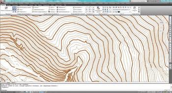 Оцифрованная модель местности в пространстве AutoCAD Civil 3D