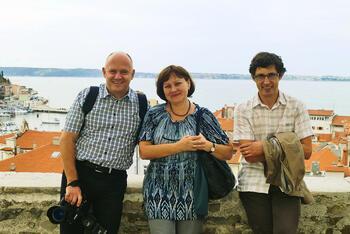Томаж Димник (директор CGS plus), Валентина Чешева, Андрей Коговшек (руководитель департамента инфраструктуры CGS plus)