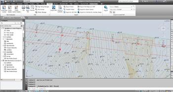 Рис. 2. Цифровая модель местности в AutoCAD Civil 3D
