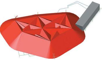 Рис. 8. Зоны молниезащиты в 3D-виде