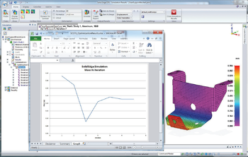 Рис. 3. ИНЖЕНЕРНЫЕ РАСЧЕТЫ: все необходимые инструменты в наличии: модуль Solid Edge Simulation (решает основные задачи линейного статического и модального анализа) и Femap для выполнения более сложных расчетов