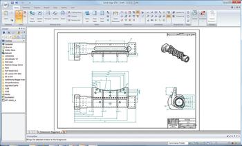 Рис. 4. ПОДГОТОВКА ПРОЕКТНОЙ ДОКУМЕНТАЦИИ: чертеж по-прежнему остается основным языком техники - как в конструкторских бюро, так и в цехах. В Solid Edge предусмотрены инструменты для создания 2D-чертежей -как с нуля, так и на основе 3D-моделей