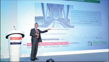 Главный исполнительный директор компании Bentley Грег Бентли выступает с докладом Расширяя возможности