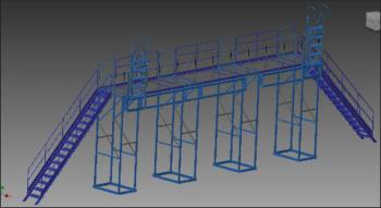 Площадка обслуживания: конструкция в Autodesk Inventor