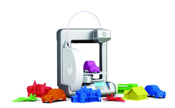 Cube - 3D-принтер, предназначенный для использования в домашних условиях. С его помощью можно создавать игрушки и небольшие предметы