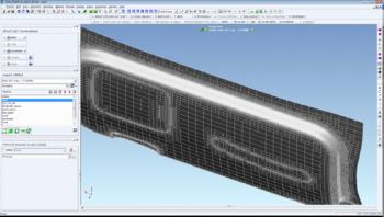 Переразбиение сетки конечных элементов на последних шагах моделирования технологического процесса