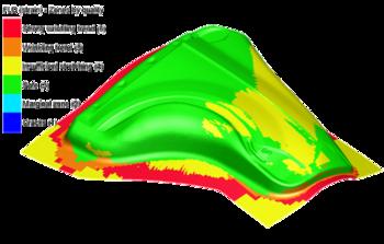 Визуализация результатов FLD на геометрии получаемого изделия